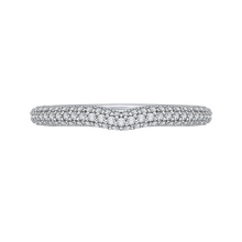 Load image into Gallery viewer, PR0139BQ-44W-.50 Bridal Jewelry Carizza White Gold Round Diamond Wedding Bands