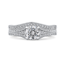 Load image into Gallery viewer, 14K White Gold Round Cut Diamond Vintage Engagement Ring