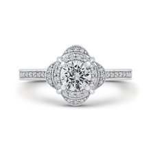 Load image into Gallery viewer, PR0178ECH-44W-.50 Bridal Jewelry Carizza White Gold Round Diamond Halo Engagement Rings