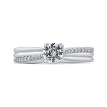 Load image into Gallery viewer, PR0196ECH-44W-.50 Bridal Jewelry Carizza White Gold Round Diamond Engagement Rings