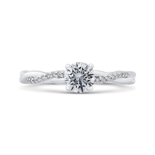 Load image into Gallery viewer, PR0197EC-44W-.50 Bridal Jewelry Carizza White Gold Round Diamond Engagement Rings