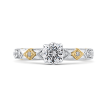 Load image into Gallery viewer, PR0202EC-44WY-.50 Bridal Jewelry Carizza White Gold Rose Gold Yellow Gold Round Diamond Engagement Rings