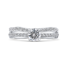 Load image into Gallery viewer, 14K White Gold Round Cut Diamond Engagement Ring