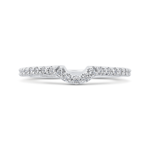 PR0205BH-44W-.75 Bridal Jewelry Carizza White Gold Round Diamond Wedding Bands