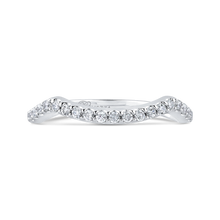 Load image into Gallery viewer, PR0209BQ-44W-.75 Bridal Jewelry Carizza White Gold Round Diamond Wedding Bands
