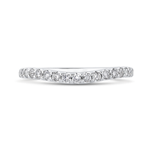Load image into Gallery viewer, PR0211BH-44W-.50 Bridal Jewelry Carizza White Gold Round Diamond Wedding Bands