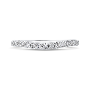 PR0211BH-44W-.50 Bridal Jewelry Carizza White Gold Round Diamond Wedding Bands