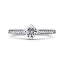 Load image into Gallery viewer, PR0224ECH-44W-.50 Bridal Jewelry Carizza White Gold Round Diamond Engagement Rings