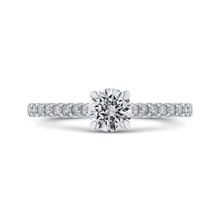 Load image into Gallery viewer, PR0227ECH-44W-.50 Bridal Jewelry Carizza White Gold Round Diamond Engagement Rings