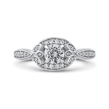Load image into Gallery viewer, PR0245ECH-44W-.50 Bridal Jewelry Carizza White Gold Round Diamond Engagement Rings