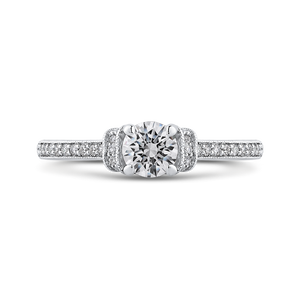 PR0252ECH-44W-.50 Bridal Jewelry Carizza White Gold Round Diamond Engagement Rings