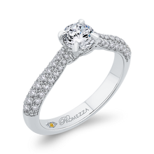 Load image into Gallery viewer, 14K White Gold Round Diamond Cathedral Style Engagement Ring