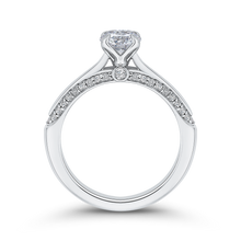 Load image into Gallery viewer, 14K White Gold Round Diamond Engagement Ring
