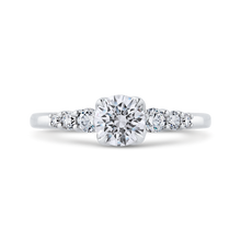 Load image into Gallery viewer, PR0262EC-44W-.75 Bridal Jewelry Carizza White Gold Round Diamond Engagement Rings