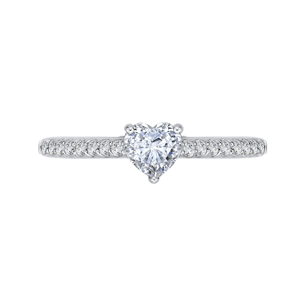 PRH0159ECH-44W.50 Bridal Jewelry Carizza White Gold Vintage Diamond Engagement Rings