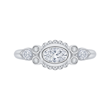 Load image into Gallery viewer, PRO0145EC-44W-.50 Bridal Jewelry Carizza White Gold Oval Diamond Engagement Rings