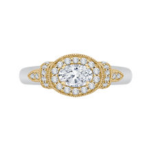 Load image into Gallery viewer, PRO0151EC-44WY-.50 Bridal Jewelry Carizza White Gold Rose Gold Yellow Gold Oval Diamond Halo Engagement Rings