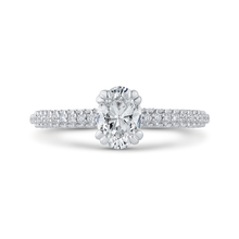Load image into Gallery viewer, PRO0236ECQ-44W-.75 Bridal Jewelry Carizza White Gold Oval Diamond Engagement Rings