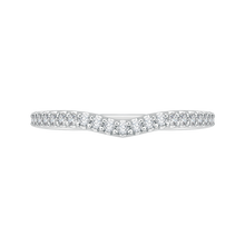 Load image into Gallery viewer, PRU0137BH-44W-.40 Bridal Jewelry Carizza White Gold Round Diamond Wedding Bands