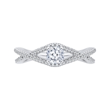 Load image into Gallery viewer, PRU0147ECQ-44W-.50 Bridal Jewelry Carizza White Gold Cushion Cut Diamond Engagement Rings