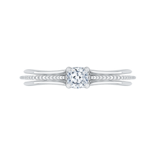 Load image into Gallery viewer, PRU0148EC-44W-.50 Bridal Jewelry Carizza White Gold Cushion Cut Diamond Engagement Rings