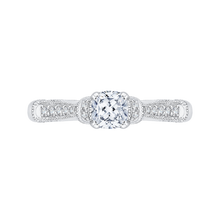 Load image into Gallery viewer, PRU0155EC-44W-.50 Bridal Jewelry Carizza White Gold Cushion Cut Diamond Engagement Rings