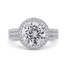 Load image into Gallery viewer, QR0046K-40W-3.00 Bridal Jewelry Carizza White Gold Round Diamond Engagement Rings