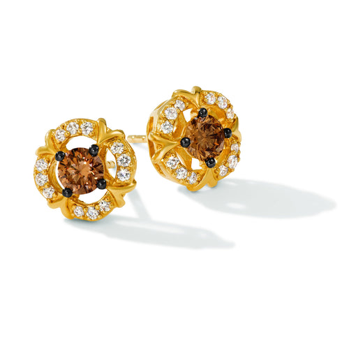 le vian chocolatier® earrings featuring 1/2 cts