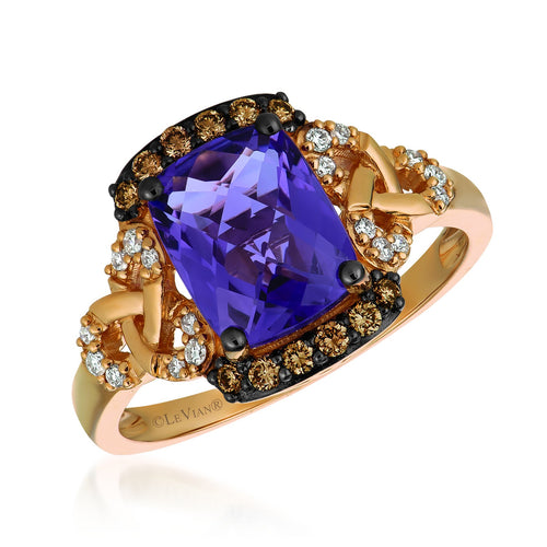 le vian chocolatier® ring featuring 1  5/8 cts