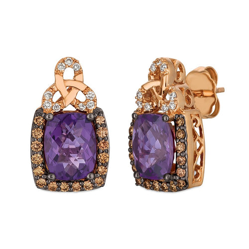 le vian chocolatier® earrings featuring 2  1/2 cts