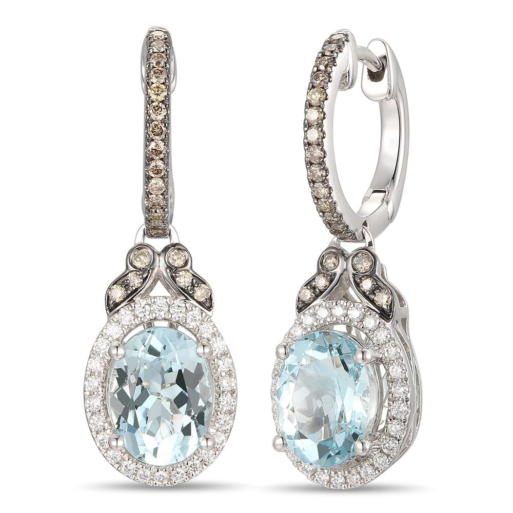 le vian chocolatier® earrings featuring 1  5/8 cts