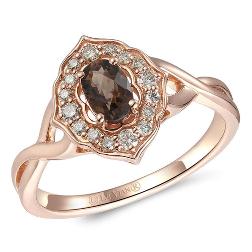 le vian creme brulee® ring featuring 3/8 cts