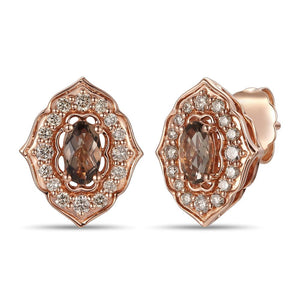 le vian creme brulee® earrings featuring 3/8 cts