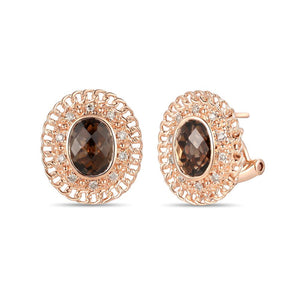 le vian creme brulee® earrings featuring 2  1/4 cts