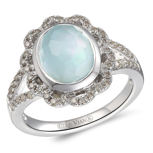 le vian creme brulee® ring featuring 3  7/8 cts
