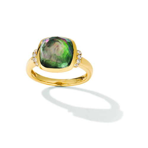 le vian creme brulee® ring featuring 5  3/8 cts