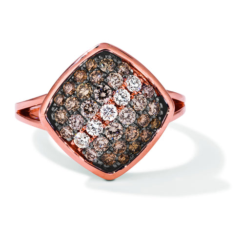 le vian ombre ring featuring 7/8 cts
