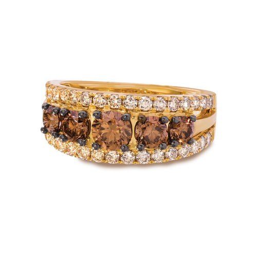 le vian creme brulee® ring featuring 1  1/4 cts