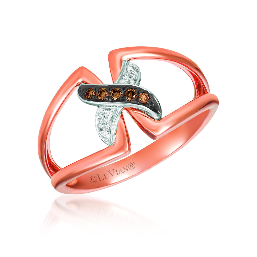 le vian chocolatier® ring featuring 1/20 cts
