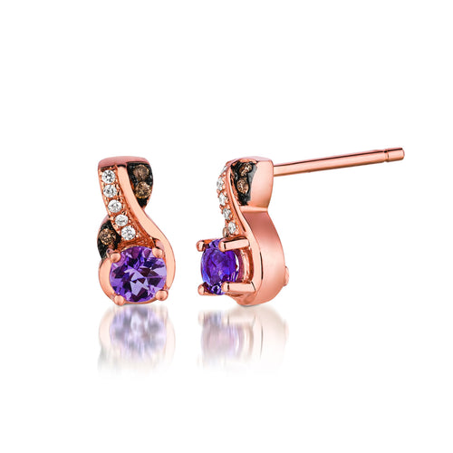 le vian chocolatier® earrings featuring 1/3 cts