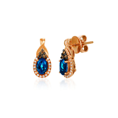 le vian chocolatier® earrings featuring 1 cts