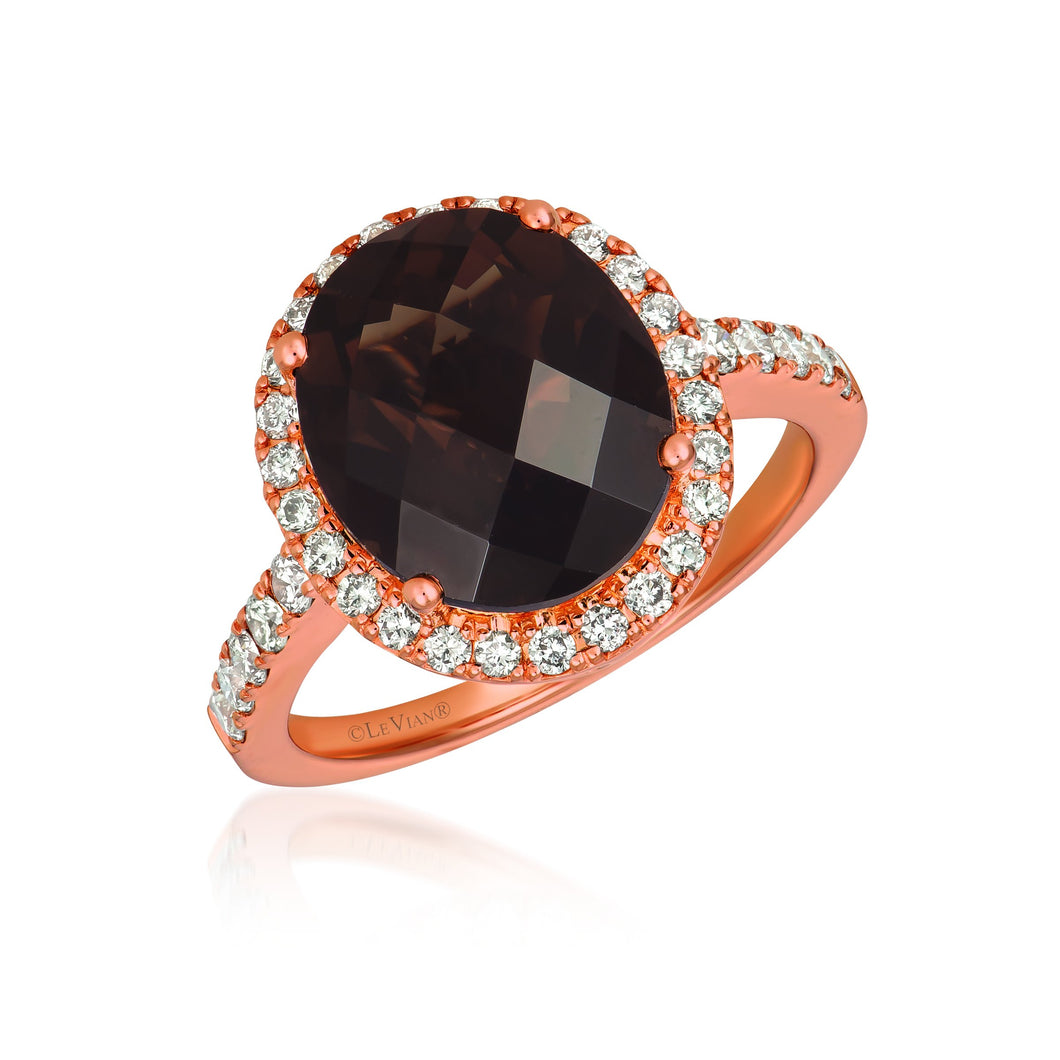 le vian creme brulee® ring featuring 4  1/4 cts