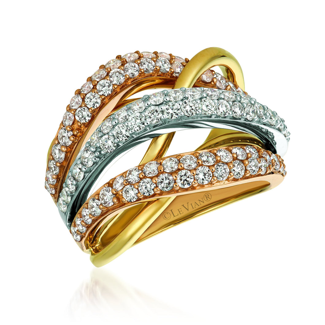 le vian creme brulee® ring featuring 1  7/8 cts