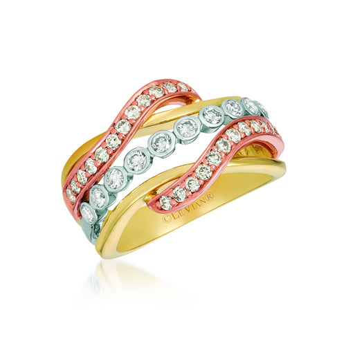 le vian creme brulee® ring featuring 3/4 cts
