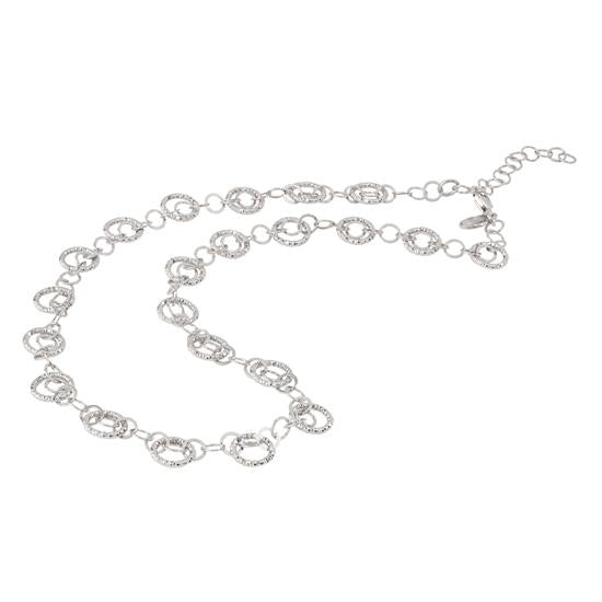 sterling silver circles galore necklace ne190