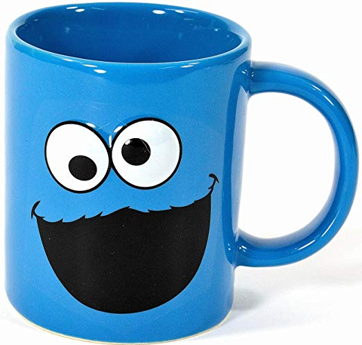 Ceramic Coffee Mug (Sesame Street Cookie Monster Face)