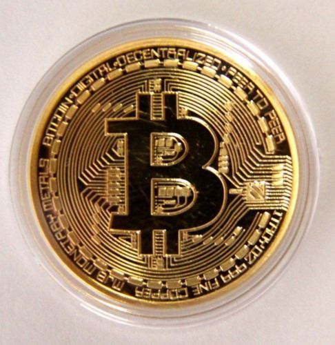 Gold Bitcoin Commemorative Coin