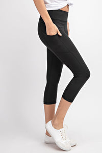 Carly Capri Yoga Pants W/ Pockets