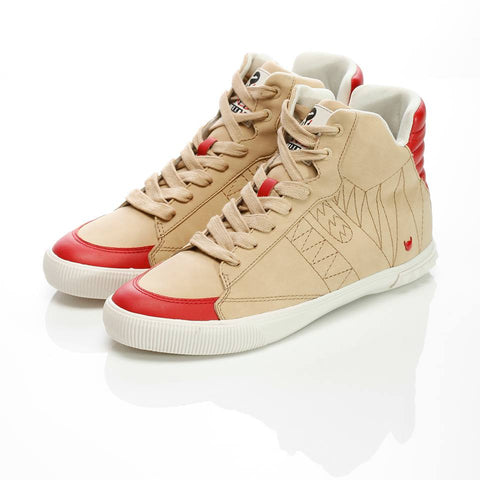 Defense Hi Beige/Red - Men