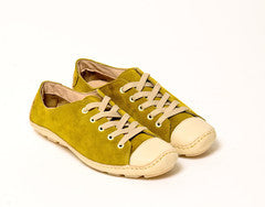 Moccasin Suede Green